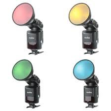 Godox Flash Color Gel Pack & Reflector Grid