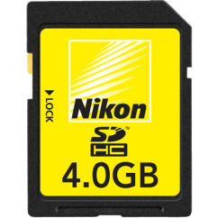 Nikon 4GB SDHC High Speed (bulk)