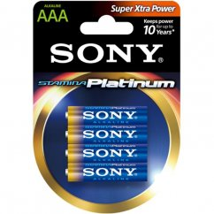 4x AAA Sony Stamina Platinum Batteries