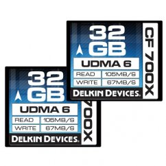 Delkin 32GB CompactFlash 700X Twin Pack