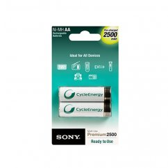 2x AA Sony rechargeable batteries