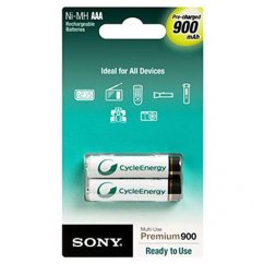 2x AAA Sony rechargeable batteries 900mAH