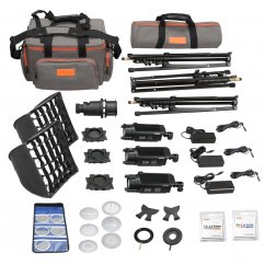 Godox S30-D 3-Light Focusing Spotlight Kit for Photography Lighting