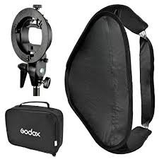 Godox Speedlite Softbox (80*80cm) with S Bracket & bag Elinchrom mount