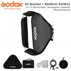 Godox SGUV8080 S1 type bracket+80*80cm softbox+bag