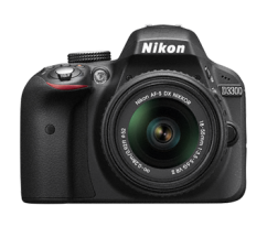 Nikon D3300 Kit 18-55mm+55-200mm VR Black