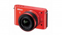 Nikon 1 J2 Orange kit +11-27.5mm + 8GB SD-card